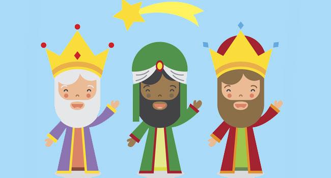 Poema divertido sobre los Reyes Magos para niños