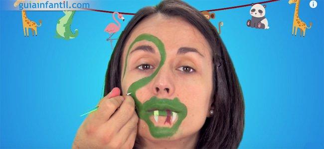 Maquillaje de serpiente para niños