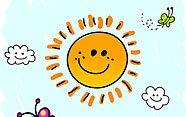 Itzelina y los rayos de sol.