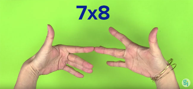 Truco para multiplicar por 6,7, 8 y 9