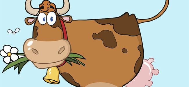 La vaca y la mosca, un poema infantil divertido para niños
