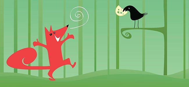 Fábula el cuervo y el zorro