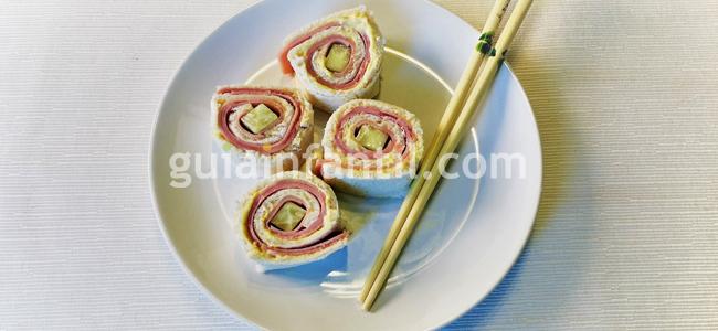 sushi-sándwich receta fácil para los niños paso 5