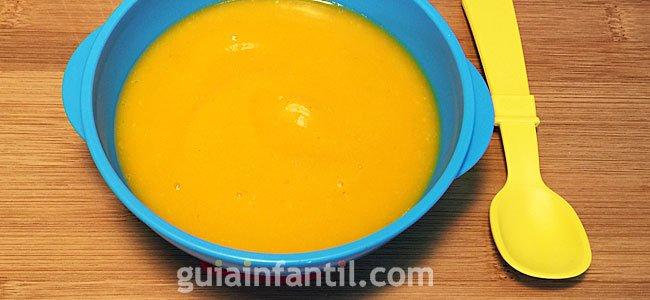 Receta de puré de calabaza, zanahoria y patata. Paso 4