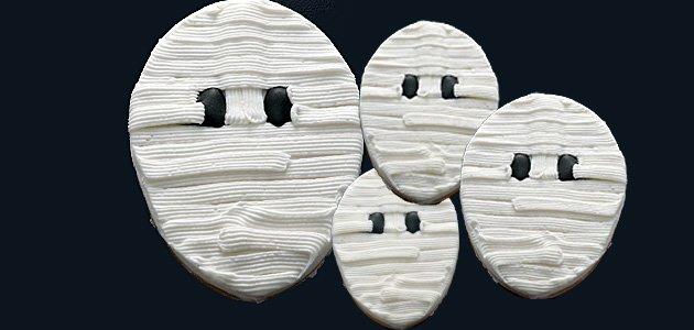 Galletas con forma de momias para los niños