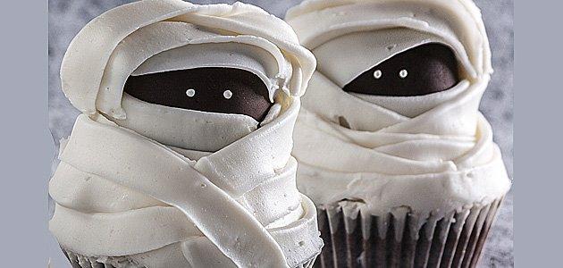 Muffins con forma de momias para los niños