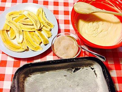 Bizcocho de plátano con canela. Paso 2