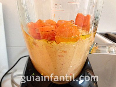 Bizcocho casero de zanahoria. Paso 2