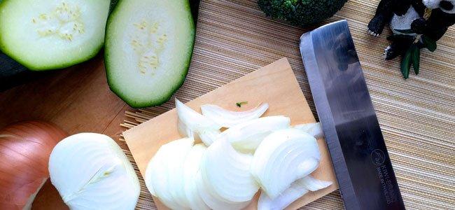 Cebolla para la crema de brócoli