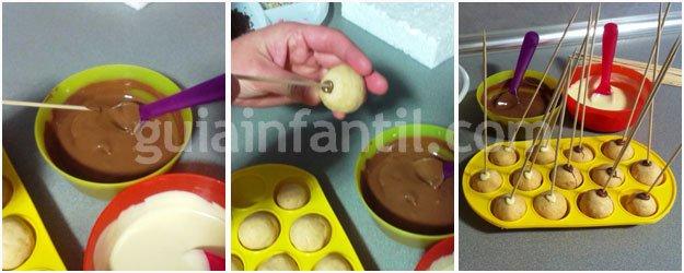 Receta de cakepops para niños. Paso 4