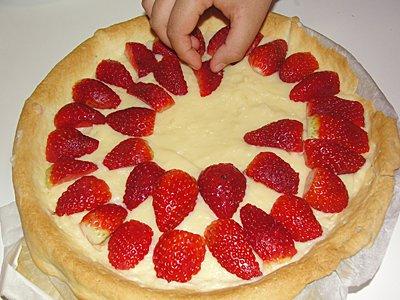 tarta de fresa paso a paso