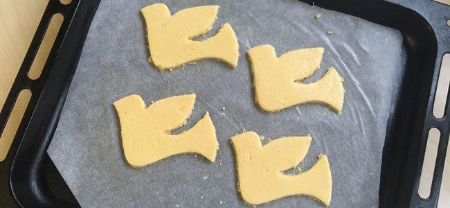Galletas con forma de paloma