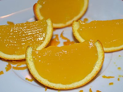 Receta paso a paso de gajos de naranja con gelatina 6
