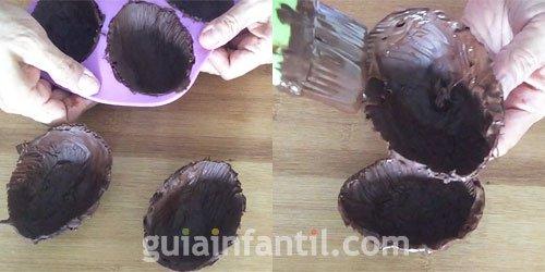 Huevo de chocolate. Paso 3