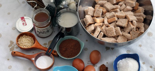 Ingredientes del pudding de coco