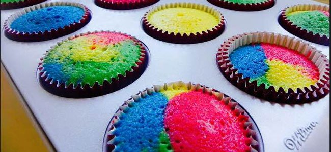Magdalenas de colores