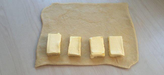 Mantequilla en hojaldre