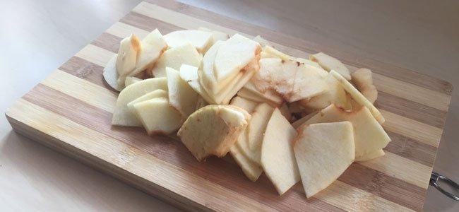 Manzana en rodajas