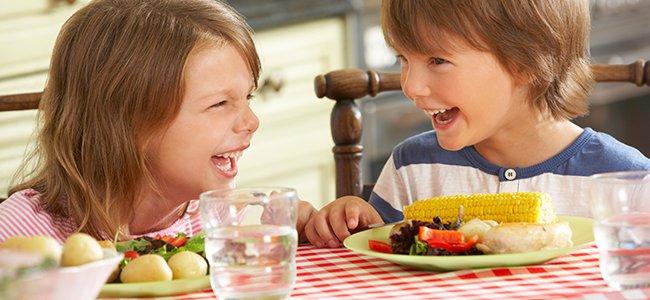 Menú bajo en grasas para niños con sobrepeso