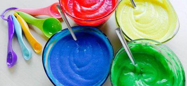 Mezcla de colores para los vasitos de Carnaval