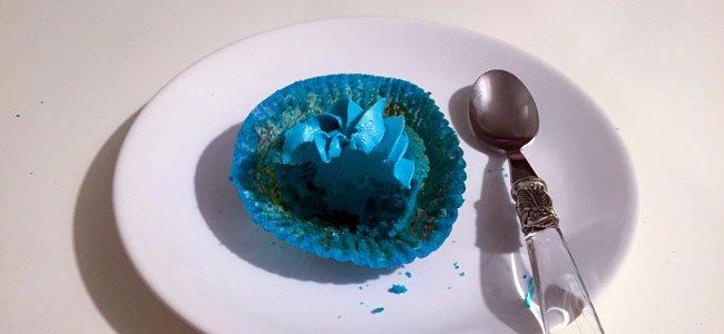 Muffin azul