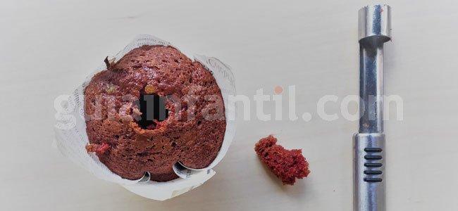 Muffin de San Valentín. Paso 3