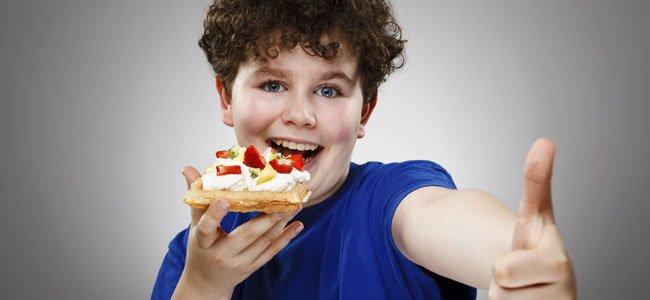 Tartas con frutas para niños