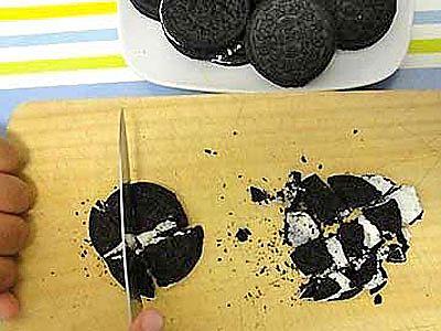 Muffins de Oreo paso 4