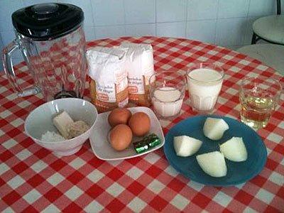REceta de pan de cebolla. Ingredientes