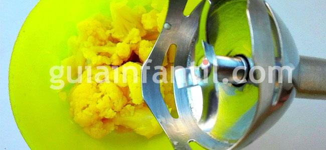 Pasta de huevo a la crema de coliflor. Paso 2
