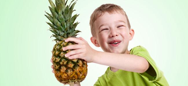 Recetas de cocina con piña o ananás para niños