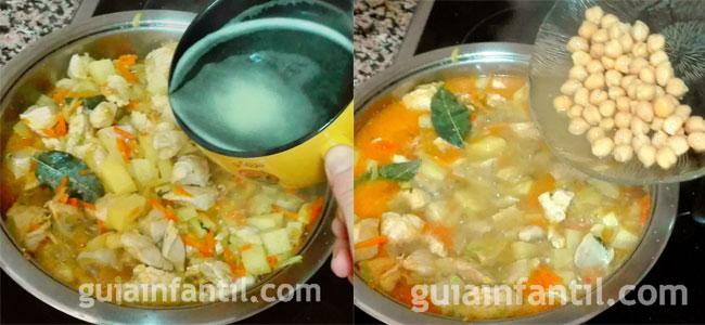 Guiso de pollo con verduras y quinoa. Paso 4