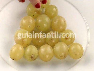 Árbol de uvas. Paso 1
