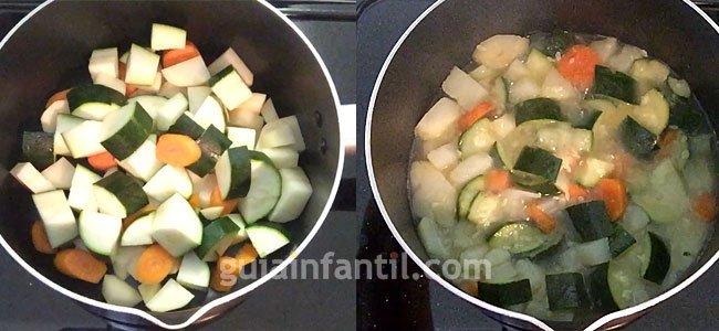 Cómo hacer puré de verduras. Paso 2