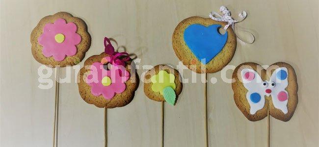 Receta de ramo de flores de galleta. Paso 4