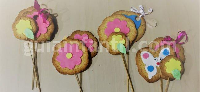 Receta de ramo de flores de galleta. Paso 5