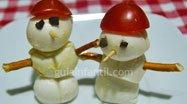 Canapé de muñeco de nieve