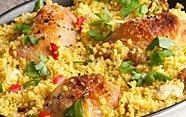 Cous cous de pollo y verduras
