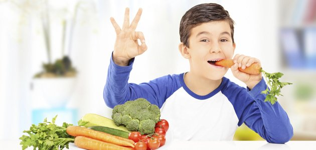 Beneficios de las verduras en los niños