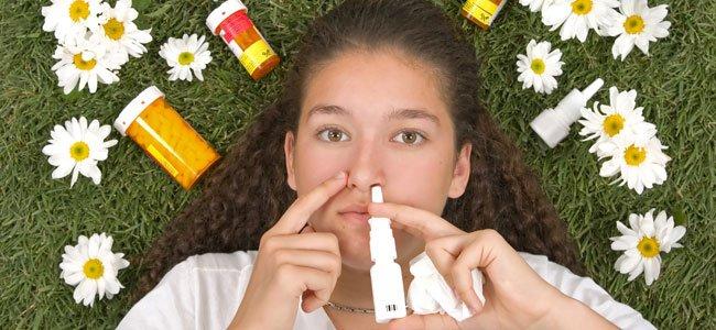 Niña con antihistamínicos