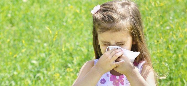 Niña estornuda