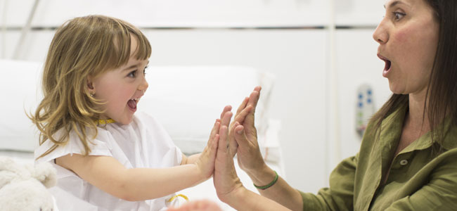 Ánimos para el niño hospitalizado