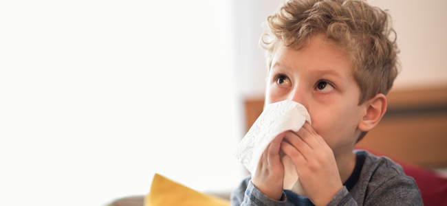 Cuidados del niño en la gripe y el resfriado