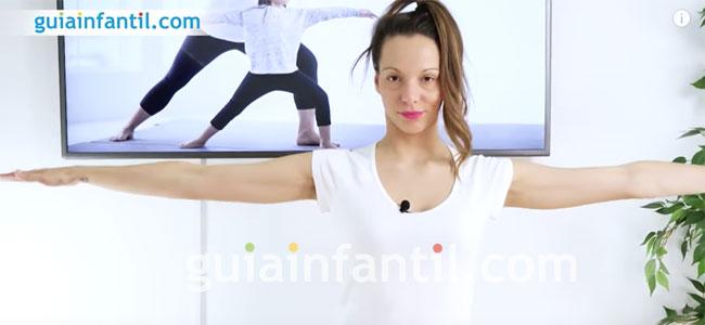 Postura del Guerrero de yoga