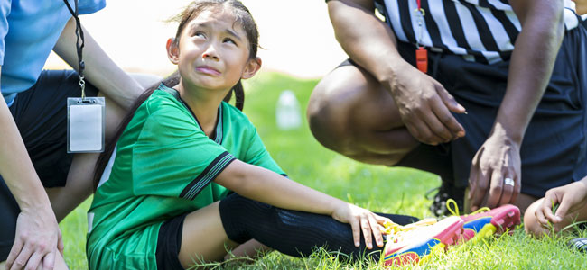 Lesiones deportivas de los niños