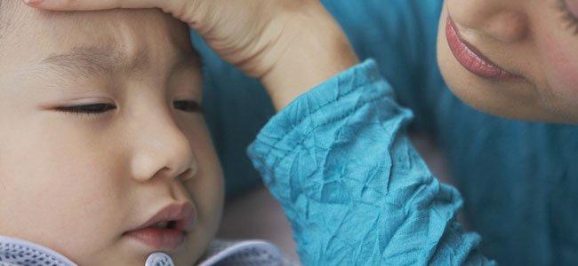 Niño chino enfermo