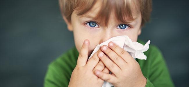 Aliviar la congestión nasal de los niños con fisioterapia
