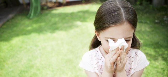 Niña estornuda asma