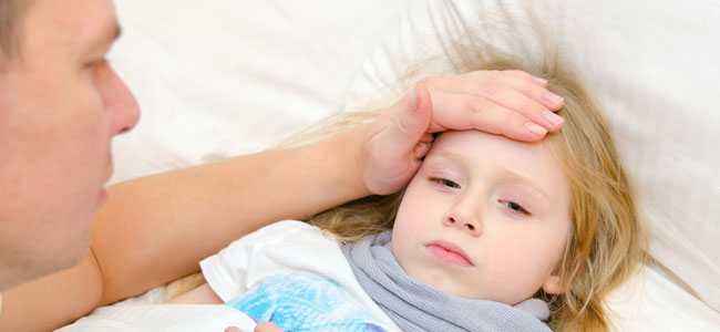 Fiebre y dolor de cabeza en refriados y gripe