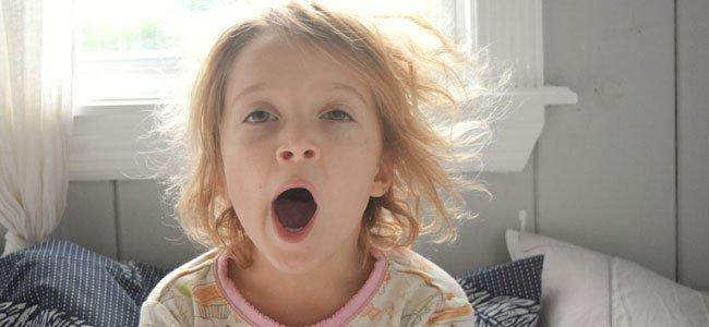 Las causas de las ojeras en los niños